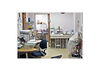 診療室:当院の診療室です。小児科受診のお子様には、ぬいぐるみなど飾ってある専用診療室があり、お子様も安心して連れてきてください。