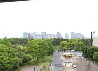 緑豊かな皇居の森をお部屋の窓から望むことができます
